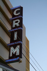 the crim theater neon sign