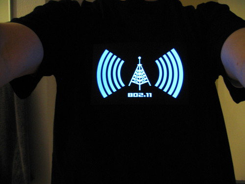 Camiseta que detecta señal de Wi-Fi