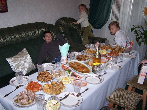 And this was just the beginning of the food on Christmas at Olya's