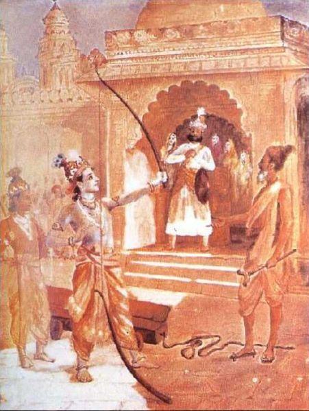 451px-Ravi_Varma-Rama-breaking-bow