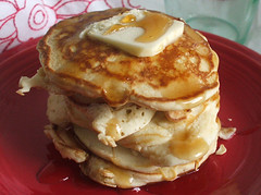 apples for jam pancakes (beautiful-layers) Tags: pancakes butter syrup redplate applesforjam