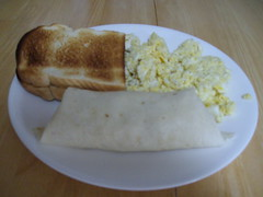 Breakfast Supreme (ecodude2012) Tags: breakfast toast eggs burrito mrsdash