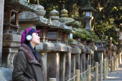 Ancient and modern Kasuga Taisha