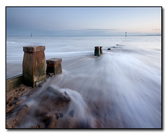 Exmouth Groyne 2 (arcvascular) Tags: longexposure mist blur beach misty evening coast nikon exposure estuary devon groyne exmouth eastdevon sigma1020 supershot d80 abigfave diamondclassphotographer flickrdiamond arcvascular