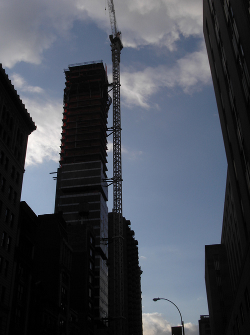 canyon with crane, 23rd Street, Manhattan, NYC