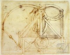 F85r-Codex Atlanticus- Catapulta-Biblioteca Ambrosiana