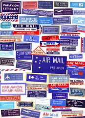 Air Mail Labels (Katey Nicosia) Tags: vintage collection labels airmail