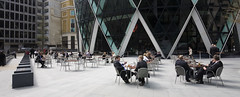 Gherkin for Lunch (cybertect) Tags: uk england london table lunch unitedkingdom explore normanfoster swissre canonef1740mmf4lusm 30stmaryaxe thecityoflondon fosterpartners canoneos5d ec3 londonec3