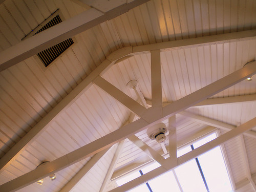Ceiling Rafters at Brockton Villa, La Jolla, California