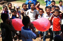 balloons (c_p_lew) Tags: education laos salavan