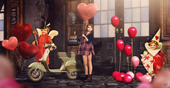 After Valentine's day (meriluu17) Tags: una mushilu boudoir sl sweetlies balloon balloons heart valentine holiday motobike shope coffee girl outdoor people cute