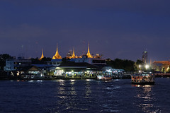 the Grand palace with Thamasate Peir (MirrorlessvsD-SLR2) Tags: night thailand prime iso800 pier bangkok sony f2 a900 siriraj sal85f14za dxo6