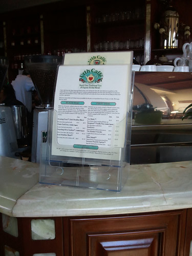 Urth Cafe Menu
