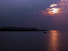 '..    ..'~sunset on Meghna River~ [explored] (sajan164) Tags: sunset reflections river das bangladesh meghna amitabha chandpur chakrabarti explored jibanananda sajan164