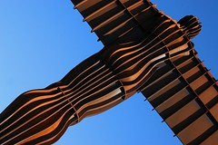 Ribs of steel (Heaven`s Gate (John)) Tags: blue england sculpture art scale statue newcastle rust steel creative dramatic gateshead ribs imagination top20rust gan angelofthenorth antonygormley corten northeastengland 25faves johndalkin heavensgatejohn superbmasterpiece ribsofsteel