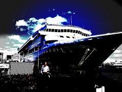 A ship in Helsinki (corpix) Tags: cameraphone ocean sky suomi finland helsinki ship harbour supershot
