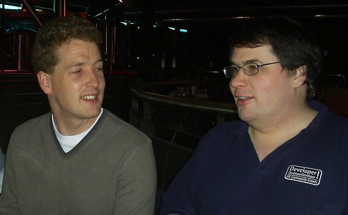 Pre-SQLBits dinner - Simon Sabin and me