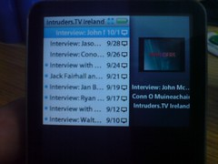 iPod Interface (Video now playing)