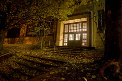 Night School in Fall (LukeOlsen) Tags: nightphotography autumn usa fall leaves night oregon portland nocturnal nocturne lukeolsen