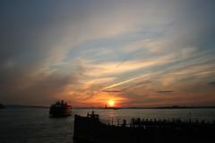 Staten Island Ferry (budakajana) Tags: new york city nyc newyorkcity sunset ny ferry america geotagged liberty island downtown manhattan united empire empirestatebuilding states statueofliberty statenislandferry staten