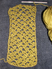 Picot Mesh scarf in progress