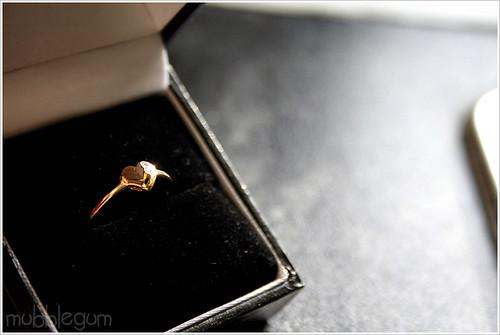 Heart Diamond Gold Ring