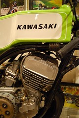 H1 R 500 Kawasaki Race Bike (davekpcv) Tags: two white green poster graphics eagle dry stroke cc motorbike american motorcycle clutch kr lettering lime 500 triple kawasaki racer meanie motorrad  greenmeanie  h1r oldjapanesebikes kawasakitriple kawasakih1r kawasakiracebike