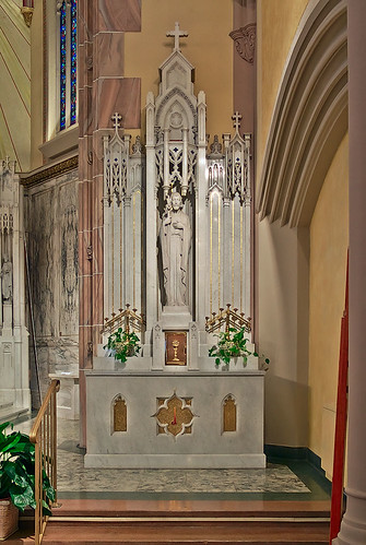 Saint Elizabeth, Mother of John the Baptist Roman Catholic Church in Saint Louis, Missouri, USA - Joseph's altar