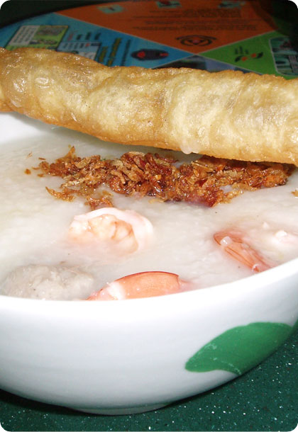 Prawn and Meat Ball Porridge