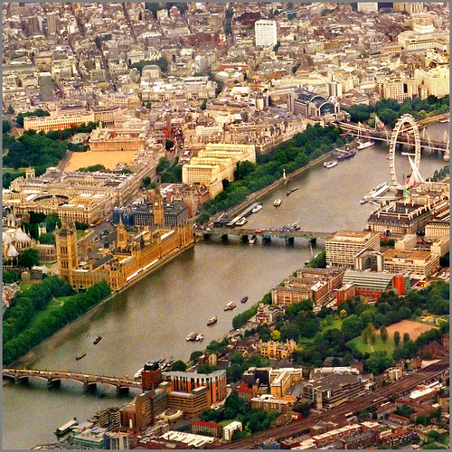 Aerial map, London - 5-4 por Katarina 2353.