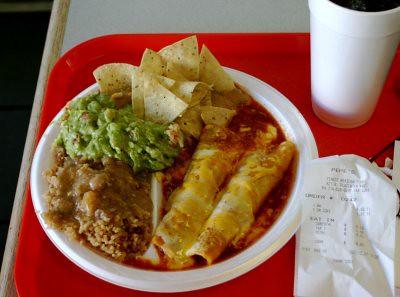 Pepe's - #4 Combo; Beef Enchiladas