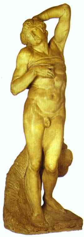 MICHELANGELO, Buonarroti. Dying Slave, c1513-1516
