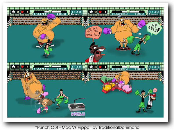 Punch Out Art - Mac vs Hippo