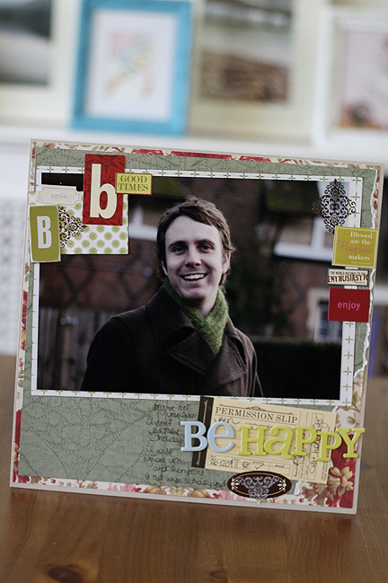 be happy scrapbook page