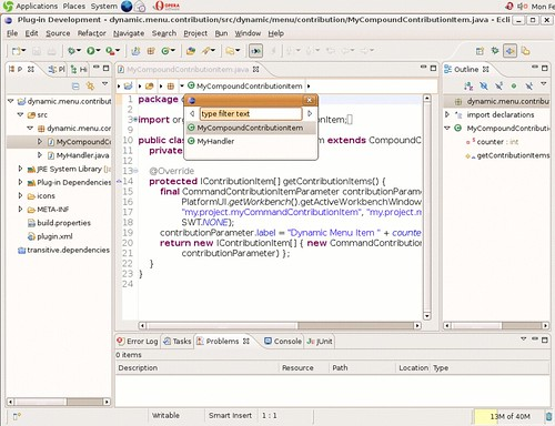 Eclipse 3.4 M5 running on Nexenta (Solaris) x86 GTK.