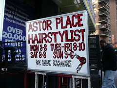 Astor Place Hairstylist by angela n., , on Flickr