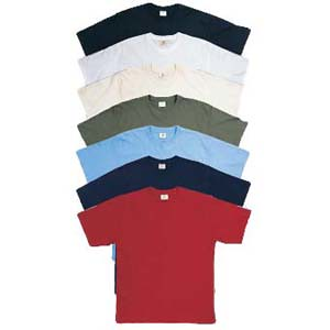 Colours for the men's organic t-shirts