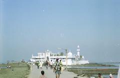 long walk ahead and back (Jennifer Kumar) Tags: muslim islam tomb bombay mumbai negativescan india1998