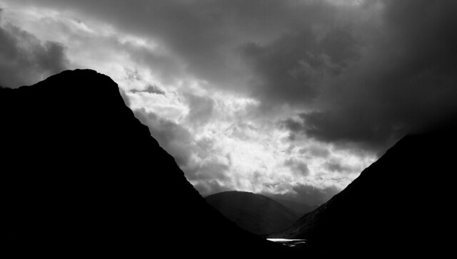 light blackandwhite bw nature monochrome clouds landscape scotland valley glencoe silhoutte afsdxzoomnikkor1855mmf3556gedii
