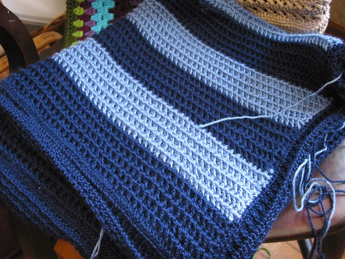 WIP: Soft Blue Baby Blanket