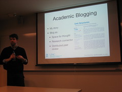 fred and academic blogging