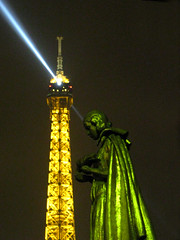 Touched by light (**Anik Messier**) Tags: light paris france tower monument statue tour eiffeltower toureiffel winner dali imagepoetry mywinners ithinkthisisart imageposie 31december2007 photosexploregroup dragongoldaward explorewinnersoftheworld