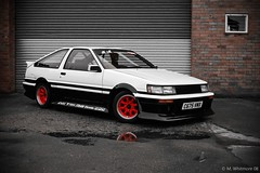Toyota Corolla AE86 6 (Mikee.B) Tags: show car nikon industrial shine photoshoot sb600 polish toyota audio speedlight corolla levin drift vibe ae86 meguiars d40 dreamice