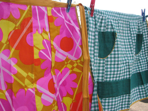 Crazy and Gingham Aprons