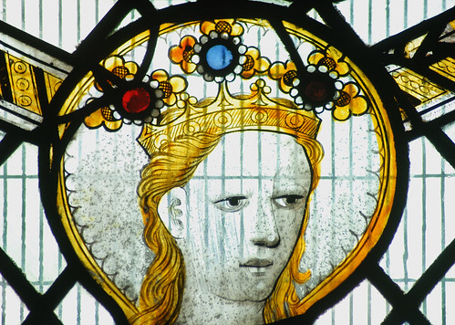 Stamford, Browne's Hospital, Chapel, sII, 5a, head female saint