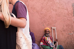 Sorrow and happiness @ Marrakech (PaulHoo) Tags: contrast marrakech sorrow happiness medina 2016 morroco disabled beggar begging blond candid streetcandid streetphotography embraced africa love