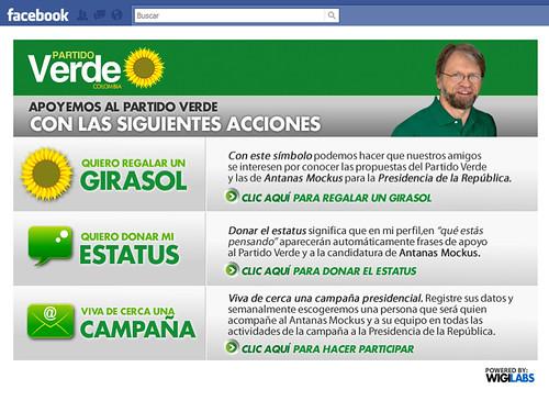 Aplicación Partido Verde