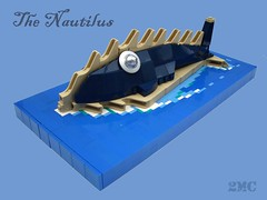 The Nautilus (2 Much Caffeine) Tags: lego sub submarine julesverne nautilus steampunk moc twentythousandleaguesunderthesea ironbuilder