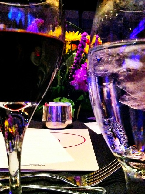 Water, wine and flowers