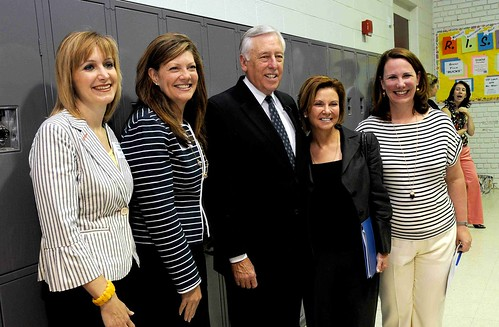 Rep. Steny Hoyer and Susan Molinari